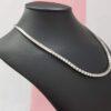 5.60 CT Round Cut Diamond Stylish Necklace 14K White Gold D VVS2
